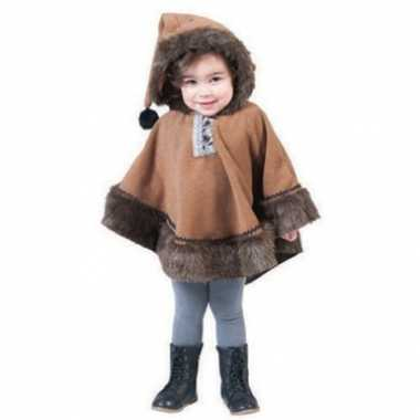 Foute kinder eskimo poncho met capuchon kleding