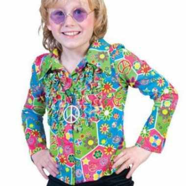 Foute kinder hippie shirt met knopen kleding