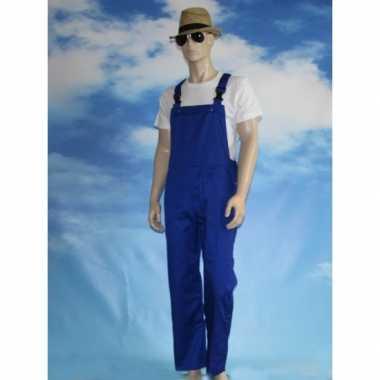 Foute kinder tuinbroeken blauw kleding