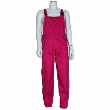 Foute kinder tuinbroeken fuchsia kleding