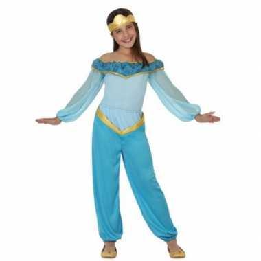 Foute kleding blauwe arabische prinses