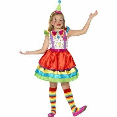 Foute kleding gekleurd clown jurkje