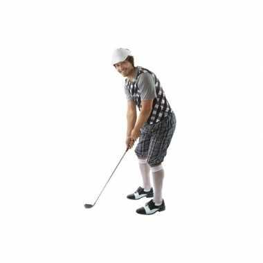 Foute kleding golfer zwart voor heren