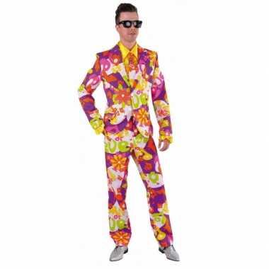 Foute kleding heren maatpak love flower