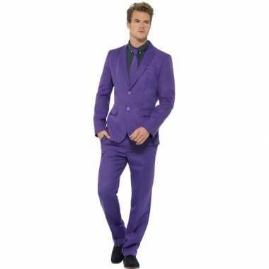 Foute kleding heren maatpak paars