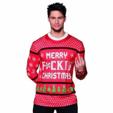 Foute kleding kerst heren shirt 10075234