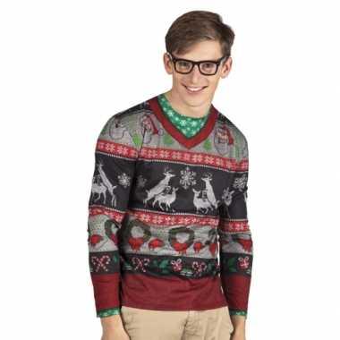Foute kleding kerst heren shirt