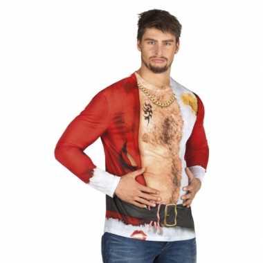 Foute kleding kerstman heren shirt