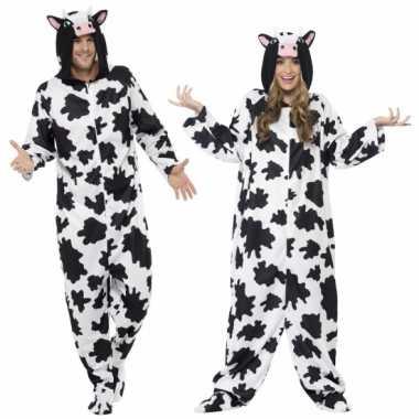 Foute kleding koe all in one voor volwassenen