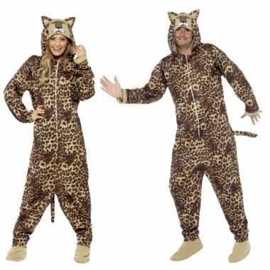 Foute kleding luipaard all in one voor volwassenen