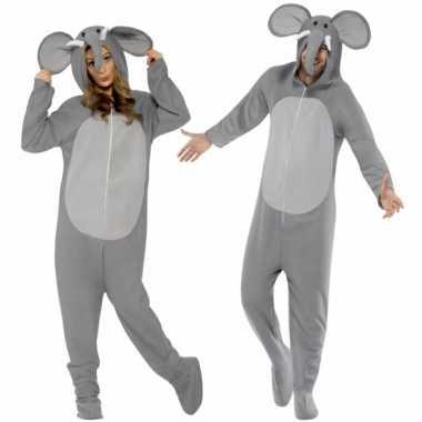 Foute kleding olifant all in one voor volwassenen