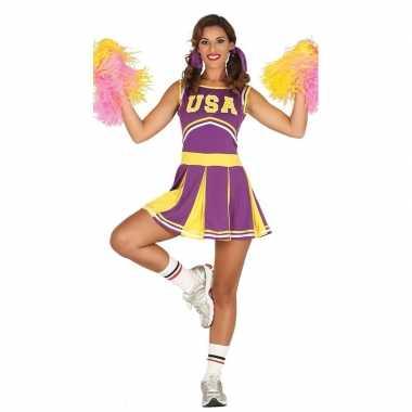 Foute kleding paarse cheerleader voor dames