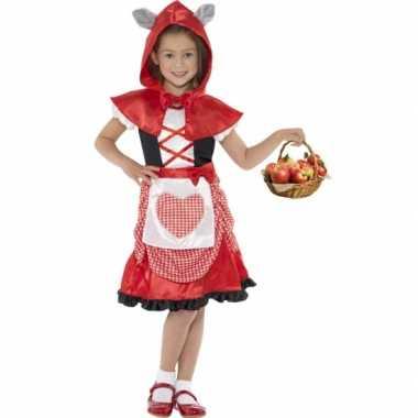 Foute kleding roodkapje voor meisjes
