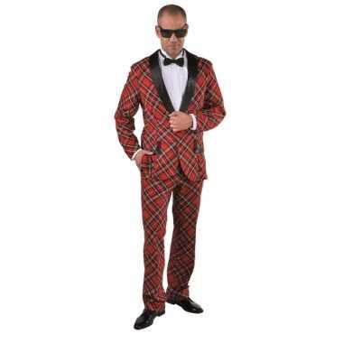 Foute kleding schotse ruit voor heren