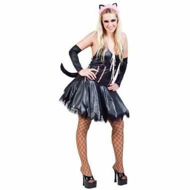 Foute kleding sexy kat/poes zwart