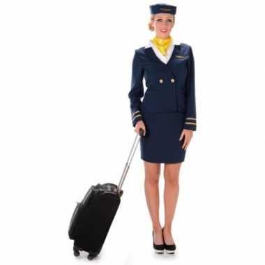 Foute kleding stewardess blauw
