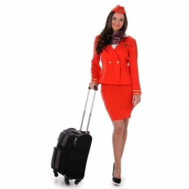 Foute kleding stewardess rood