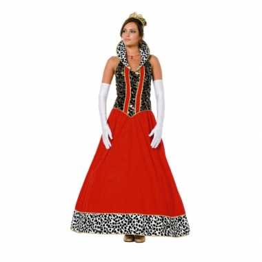 Foute koninginnen jurk rood vrouwen kleding