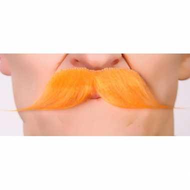 Foute koningsdag snorren oranje kleding