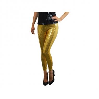 Foute legging in het goud met pailletten kleding
