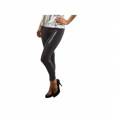 Foute legging met zwarte pailletten kleding
