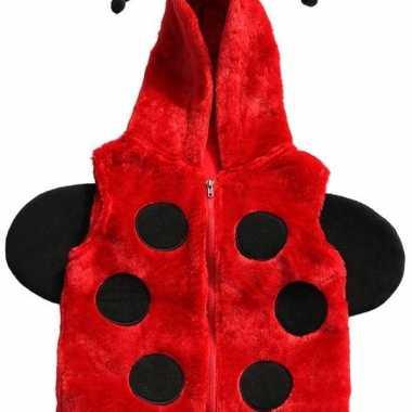 Foute lieveheersbeestje vestje met capuchon voor kinderen kleding