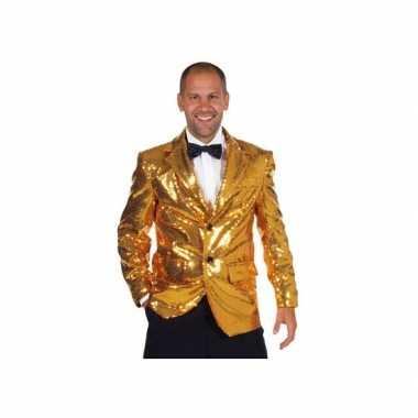 Foute luxe gouden blazers voor mannen kleding