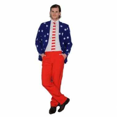 Foute maatpak met amerikaanse vlaggen print kleding