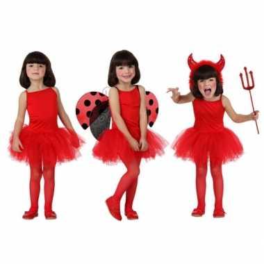 Foute meisjes jurkje rood kleding