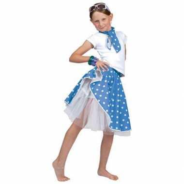 Foute meisjes rock n roll rok blauw kleding