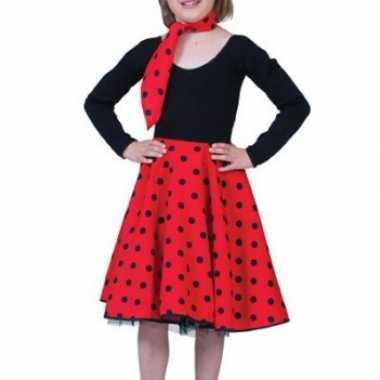 Foute meisjes rock n roll rok rood kleding