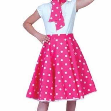 Foute meisjes rock n roll rok roze kleding