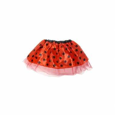 Foute meisjes rokje rood kleding 10068090