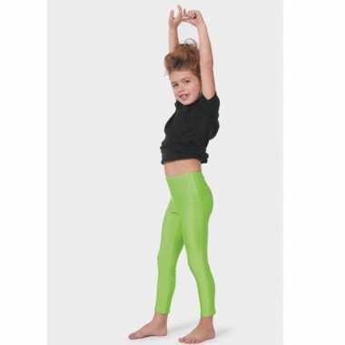 Foute neon groene kinder leggings kleding