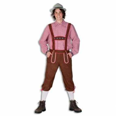 Foute oktoberfest bruine lederhose voor heren kleding