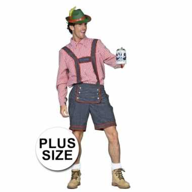 Foute oktoberfest tiroler lederhose grote maat kleding