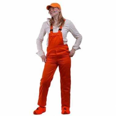 Foute oranje tuinbroek verstelbaar kleding