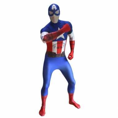 Foute originele morphsuit captain america kleding