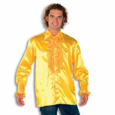 Foute overhemd geel met rouches heren kleding