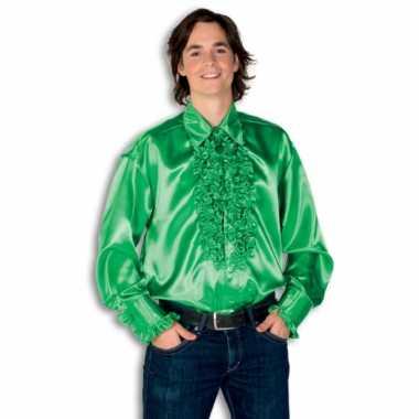Foute overhemd groen met rouches heren kleding