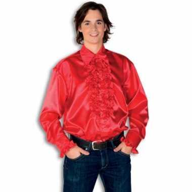 Foute overhemd rood met rouches heren kleding