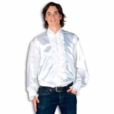 Foute overhemd wit met rouches heren kleding