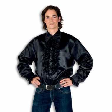 Foute overhemd zwart met rouches heren kleding