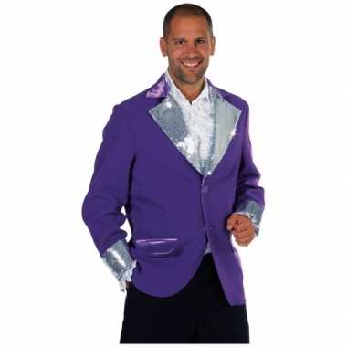 Foute paars zilver colberts voor mannen kleding