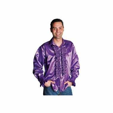 Foute paarse blouse met rouches kleding