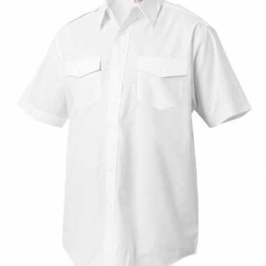 Foute piloten captains shirt korte mouw kleding
