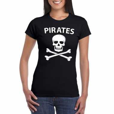 Foute piraten shirt zwart dames kleding