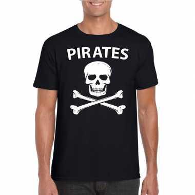 Foute piraten shirt zwart heren kleding