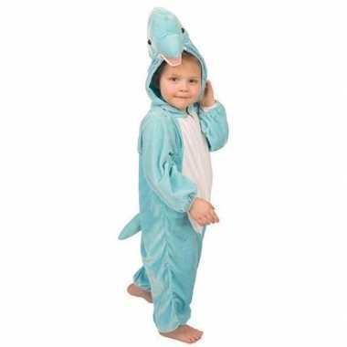 Foute pluche dolfijnen pak blauw kleding
