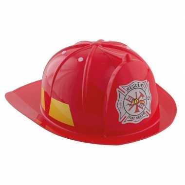 Foute rode brandweerhelm accessoire voor kinderen kleding